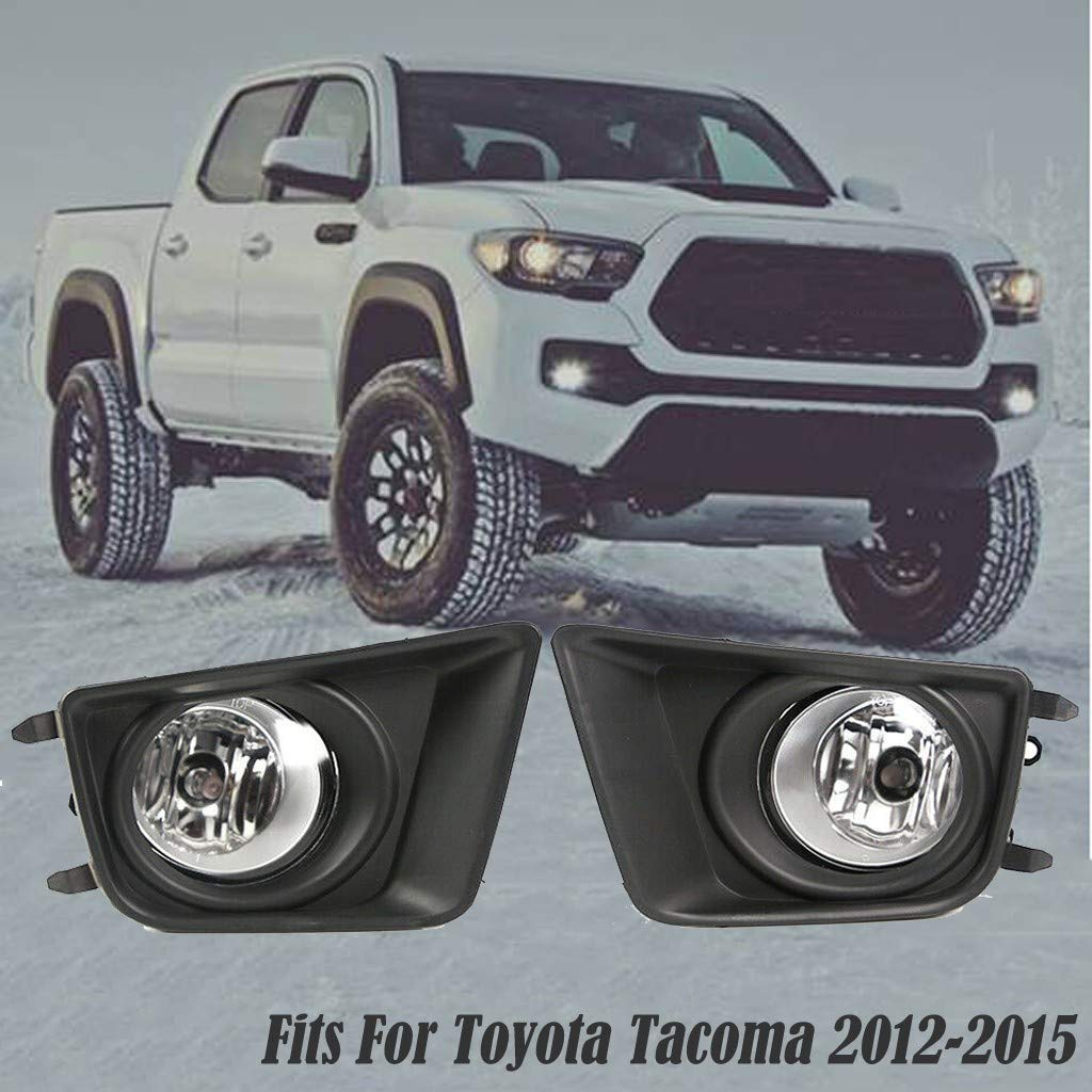 Arrowsy Clear Bumper Driving Fog Lights & Switch Left & Right Compatible with Toyota Tacoma 2012-2015 Car Parts Repair Tool Accessories - US Stock by Arrowsy
