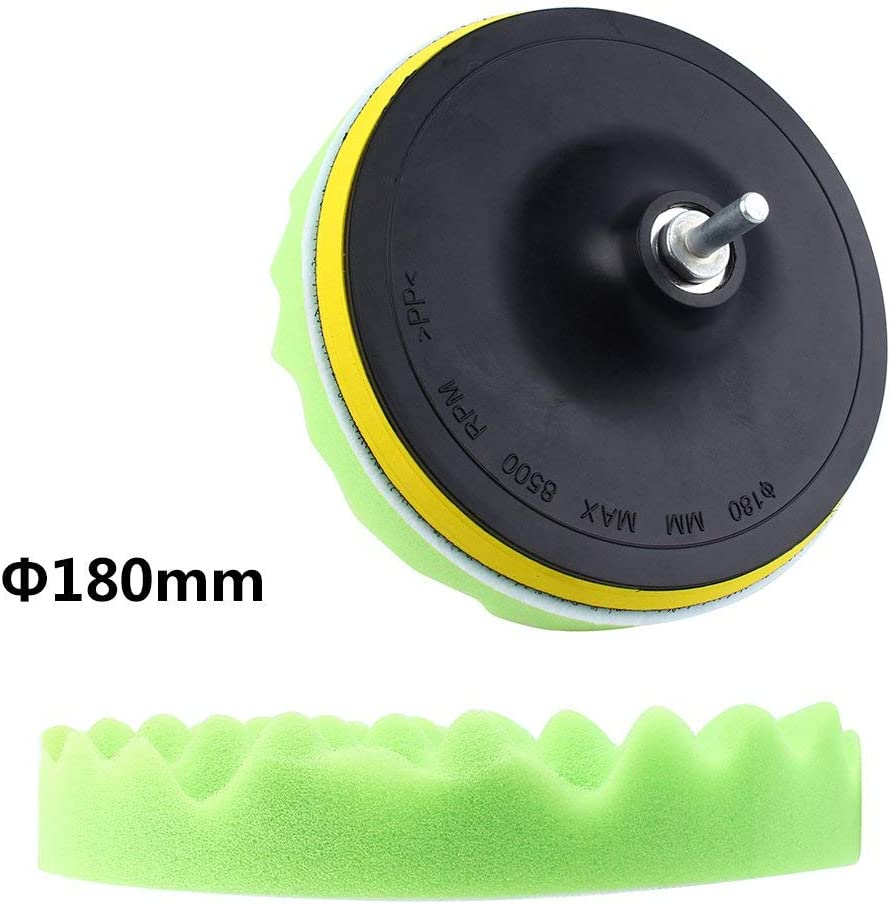 DEALPEAK 7Pcs//Set Car 7 Polishing Sponge Kit Waxing Buffing Pad Polisher Drilling Adapter Tool 30mm