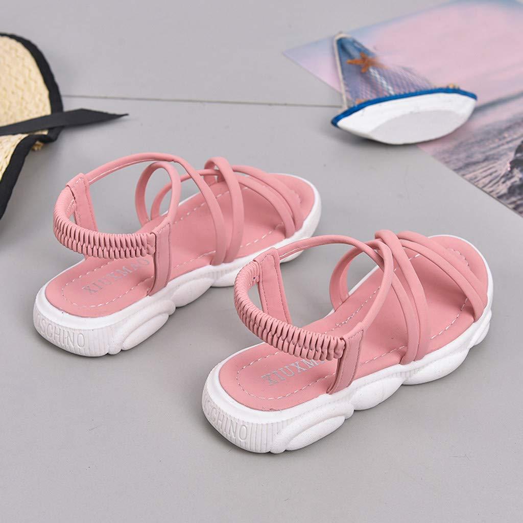 Moonker Kids Girls Summer Princess Shoes Sandals for 3-13 Years Old Children Teen Casual Cartoon Bear Walking Sandals