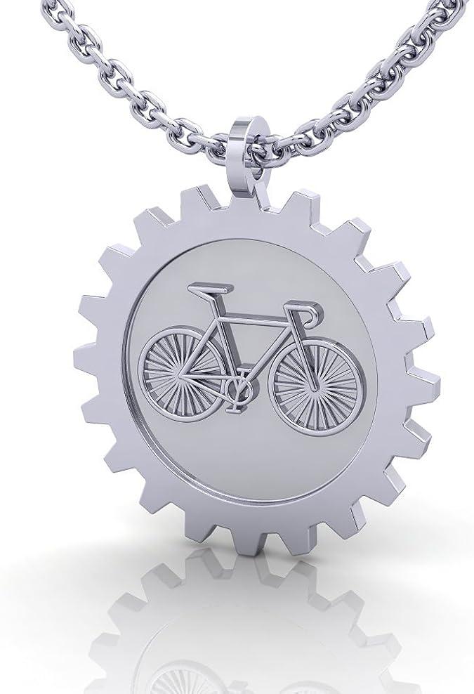 Plata de ley 925 colgante en forma de bicicleta de carretera ...