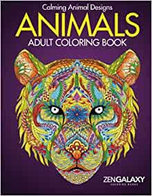 Animals adult coloring book calming animal Coloring books for adults on amazon