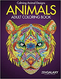 animals adult coloring book calming animal designs - Coloring Book Animals