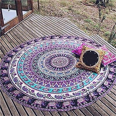 Amazon.com: SGQIANG 150cm Creative Printed Round Beach ...