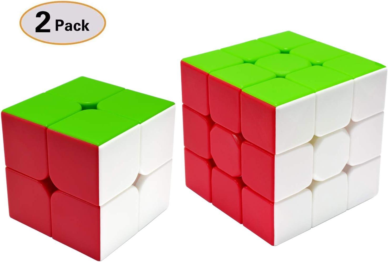 TOYESS Speed Cube Set Stickerless, Cubo de Velocidad 3x3 Stickerless+Cubo Mágico 2x2, Rompecabezas Puzzle Juguetes para Adulto & Niños(2 Pack): Amazon.es: Juguetes y juegos