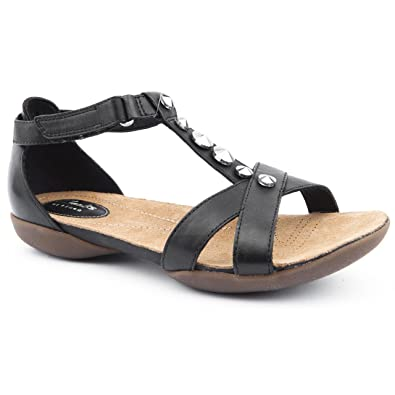 800130516 Clarks Ladies Raffi Scent Black Casual Sandals Size 8  Amazon.co.uk ...