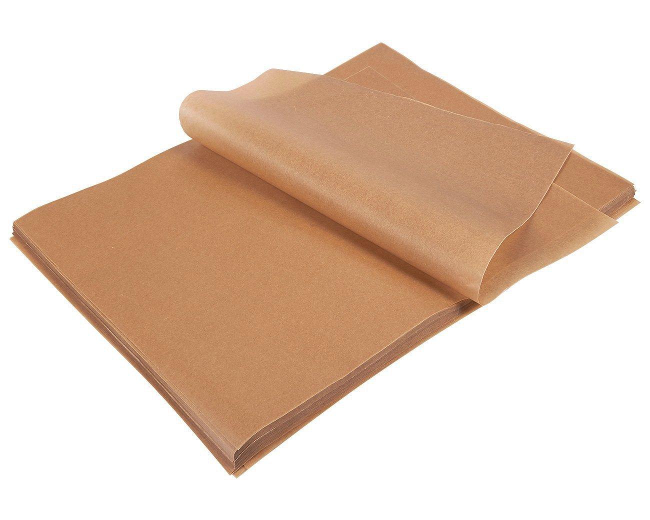Parchment Paper Sheets - 200-Count Precut Unbleached Parchment Paper for Baking, Half Sheet Pans, Non-Stick Baking Sheet Paper, Brown, 12 x 16 Inches Juvale