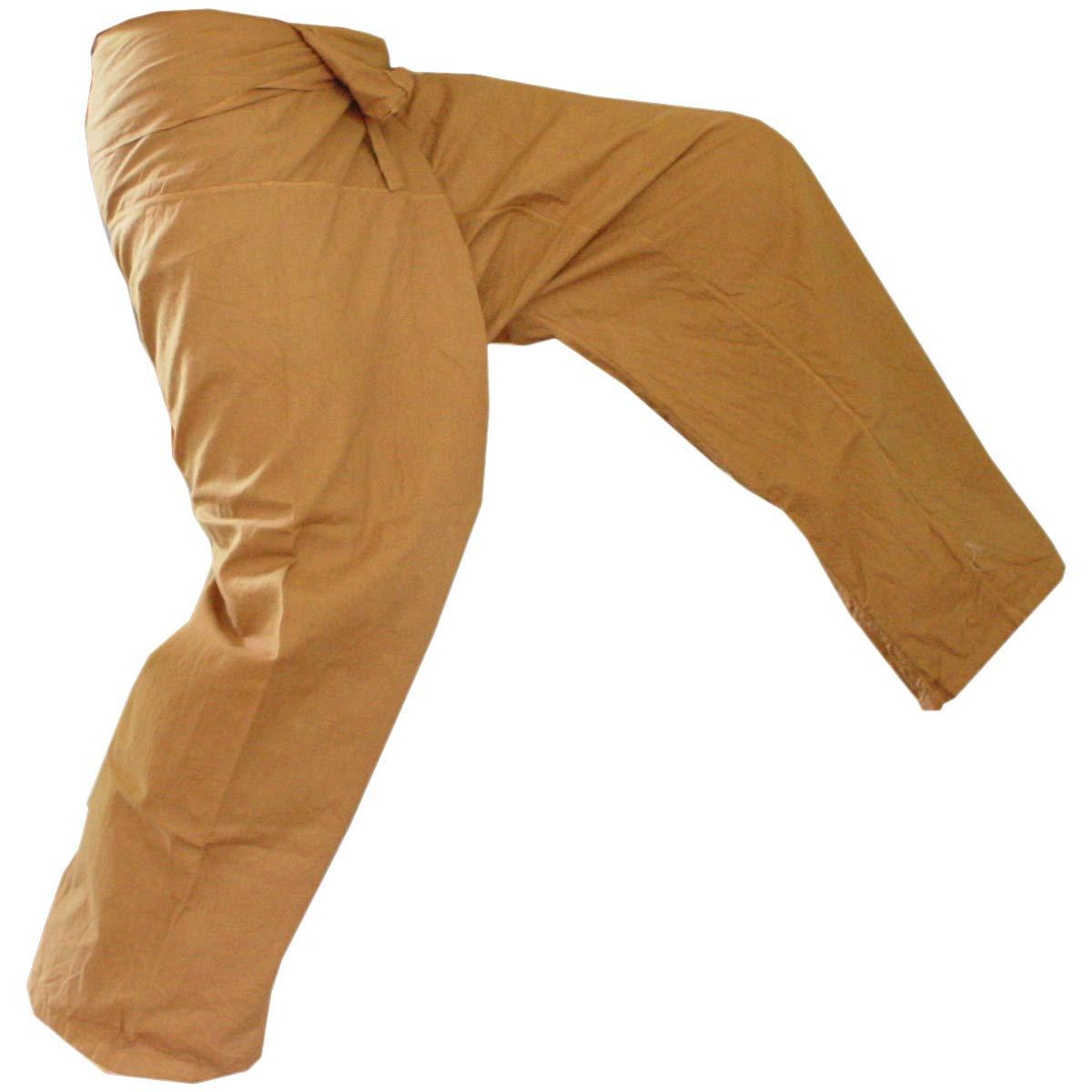 PANASIAM® Thai Fisherman Pantalon, Le Classique, Ici en XL (à partir de 1,80m Taille du Corps) - Jaune