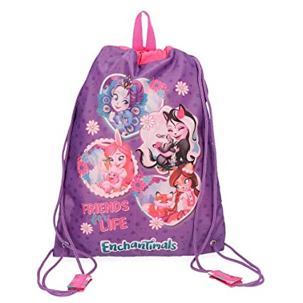 Enchantimals In The Woods Mochila Tipo Casual, 40 cm, 0.6 litros, Morado