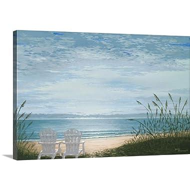 Bruce Nawrocke Premium Thick-Wrap Canvas Wall Art Print entitled Beach Chairs 36 x24