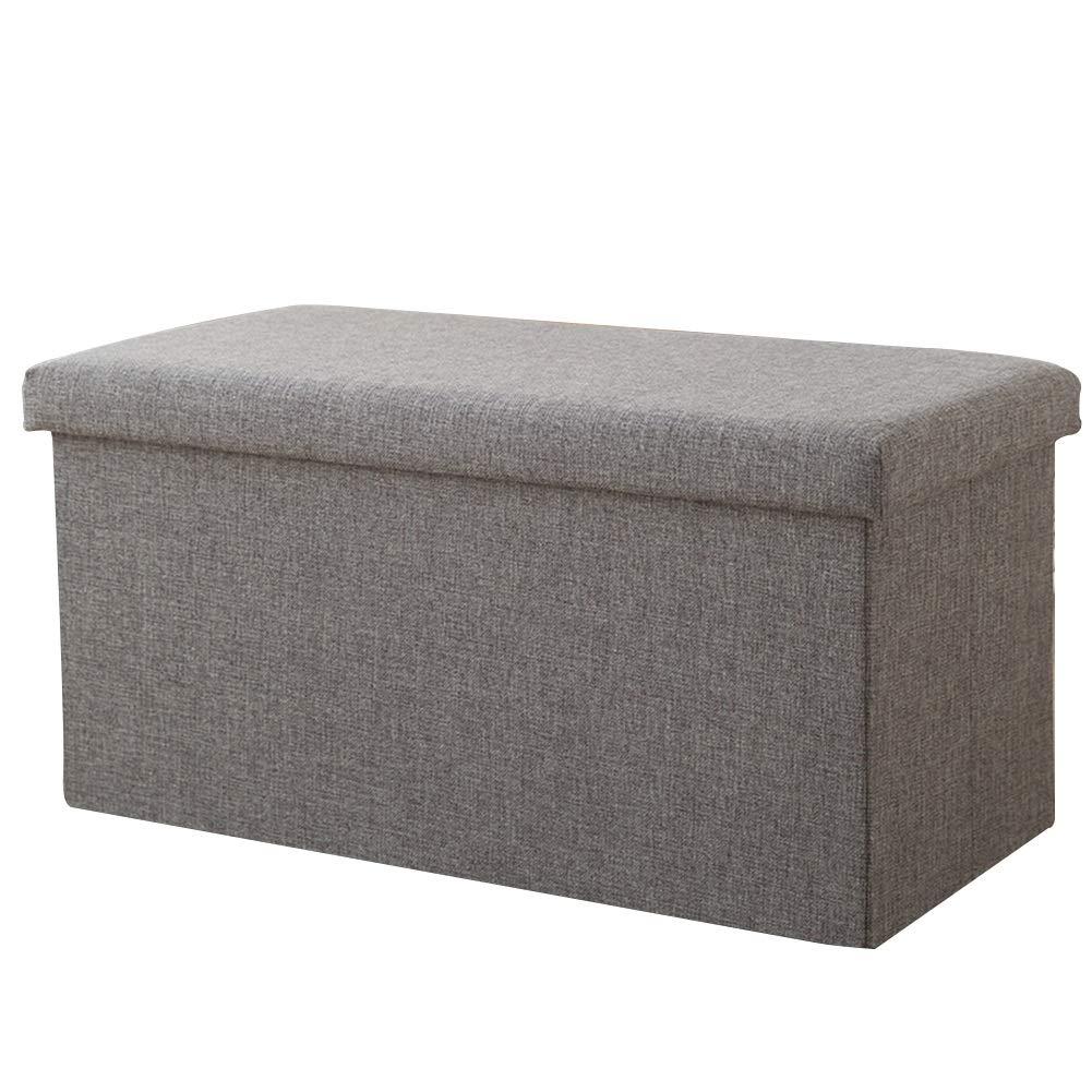 ZENGAI フットスツール 矩形 靴のベンチを変更 ソファー 折りたたみ式 家庭 おもちゃ 服 収納ボックス (色 : G g, サイズ さいず : 76x38x38cm) 76x38x38cm G g B07PMX1W8V