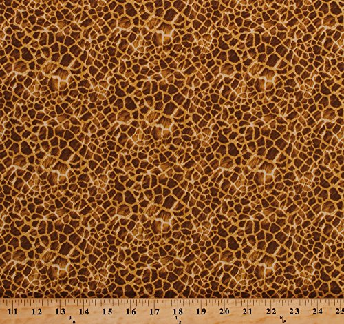 l Skin Print Design Spots African Animals Safari It's A Jungle Out There Cotton Fabric Print by the Yard (5009) (African Safari Fabric)