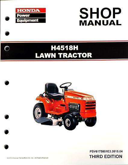 amazon com honda h4518 h4518h lawn tractor mower service repair rh amazon com Honda 4518 Riding Mower honda 4518 owners manual