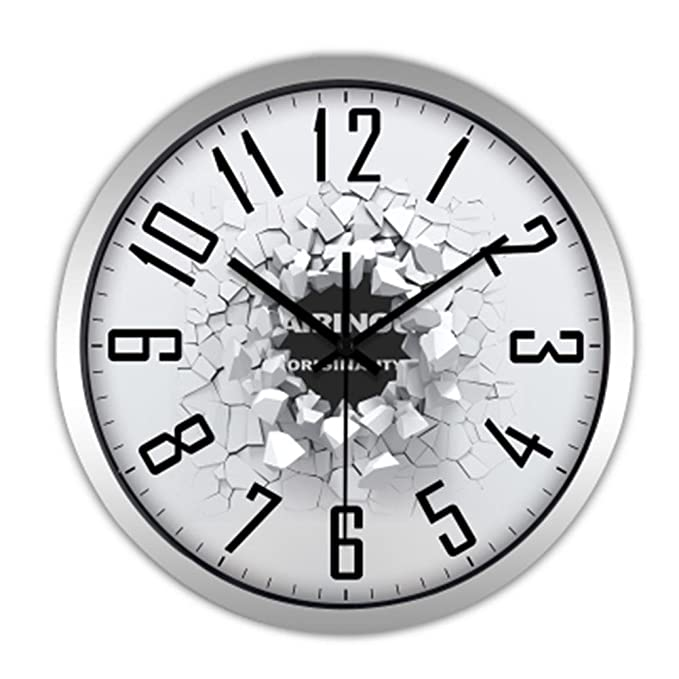 Amazon.com: DHXY Silent Wall Clock Modern Creative Personality Living Room Wall Clock European Style Quartz Clock Hanging Table Bedroom Simple Clock ...