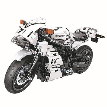 378Pcs Technic Motorcycle Exploiture Model Harley Vehicle Bricks Block Building