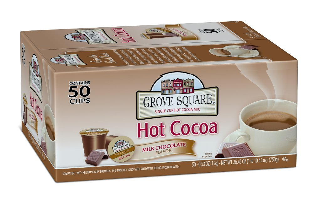 Grove Square Hot Cocoa, Milk Chocolate, 50 Single Serve Cups by Grove Square
