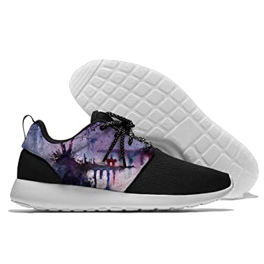 Ancient Ravine Watercolor Painting Men's Mesh Running Shoes Sneakers Lightweight Athletic Workout Fitness Sports Shoes Trainers