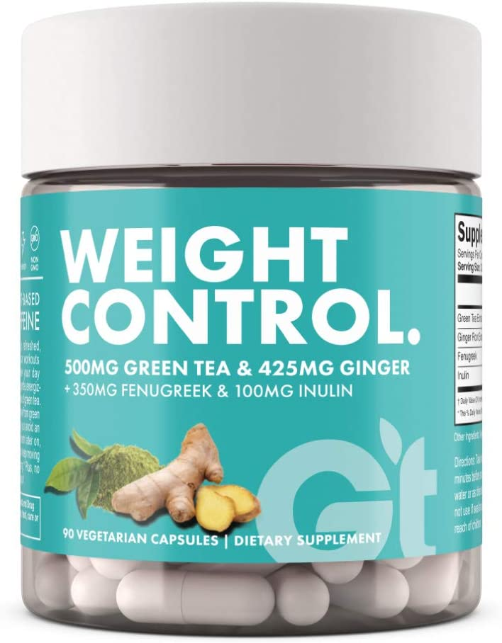 Genesis Today Weight Control Dietary Supplement, 500mg of Green Tea and 425mg of Ginger Root Per Serving, 90 Vegetarian Capsules