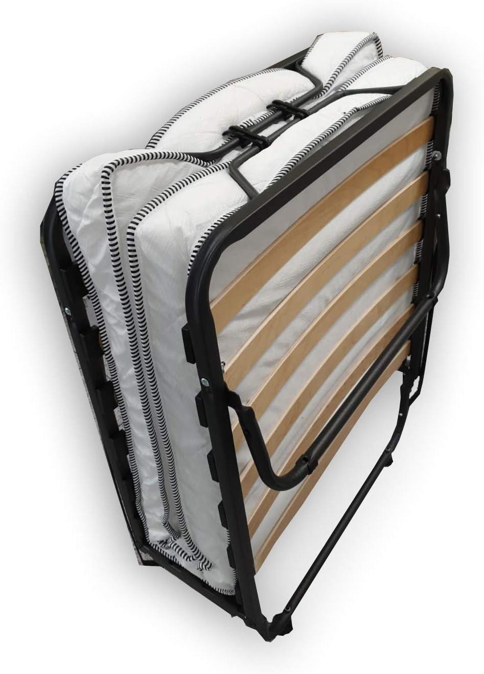 Alanpur® Cama plegable: 80 x 190 cm, cama de invitados con colchón, cama plegable con marco de metal estable hasta aprox. capacidad de carga: 100kg