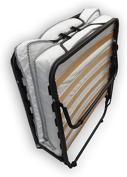 Alanpur® Cama plegable: 80 x 190 cm, cama de invitados con colchón, cama plegable con marco de metal estable hasta aprox. capacidad de carga: 100 kg