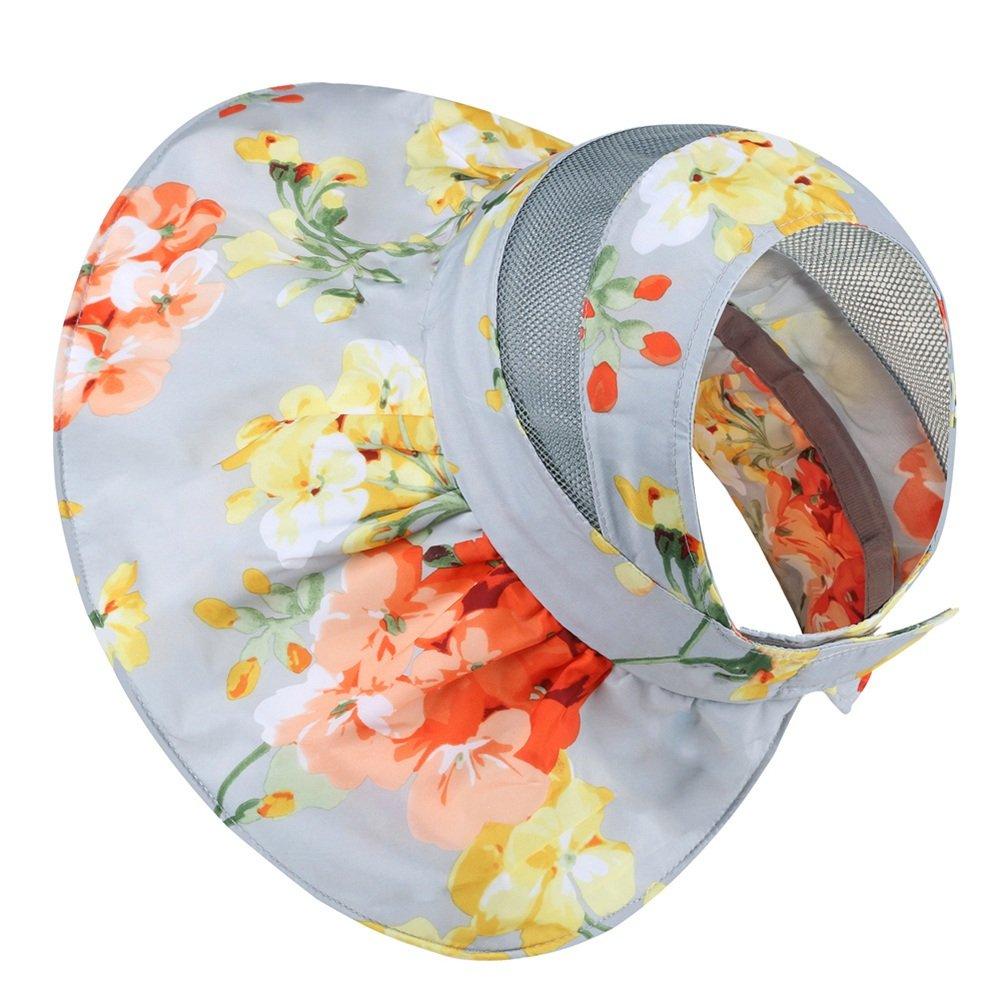 HAIPENG Chapeau De Seau Large Bord Sun Cap Coton Ajustable, 2 Couleurs ( Couleur : Gris )