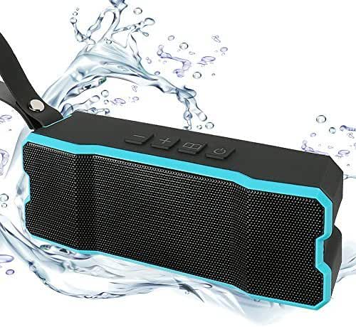 CTLpower Wireless Bluetooth Speakers,Portable and Waterproof Speakers 10W Bass Sound,Stereo Pairing,Durable Design for iPhone /iPod/iPad/Phones/Tablet/(Blue)