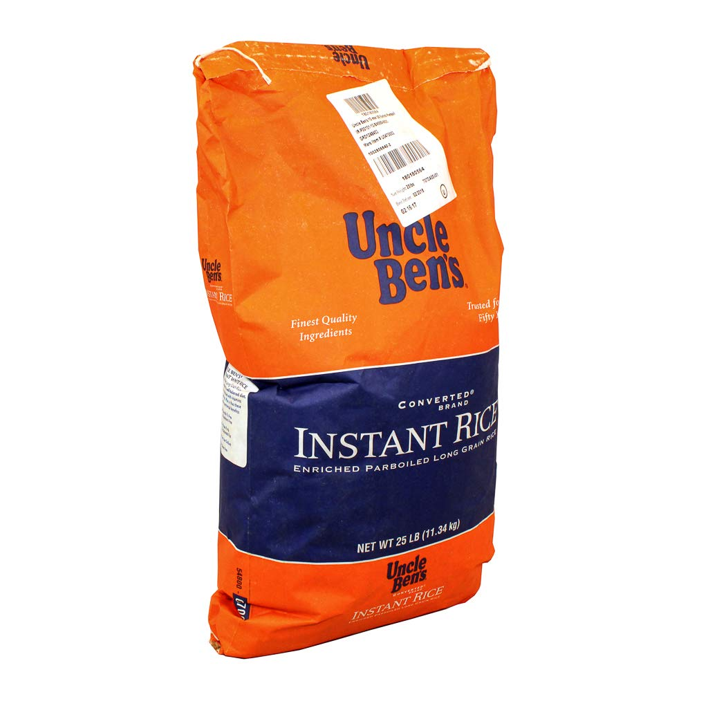 UNCLE BEN'S Brand Instant Rice, 25 Pound
