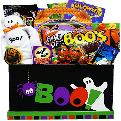 Boo! To You Candy and Snack Care Package Gift Box - Halloween Gift Basket -