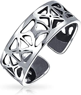 Isolation Ouvrir X Large bande en filigrane Midi Toe Ring 925 Sterling Silver réglable Bling Jewelry PMR-R10267