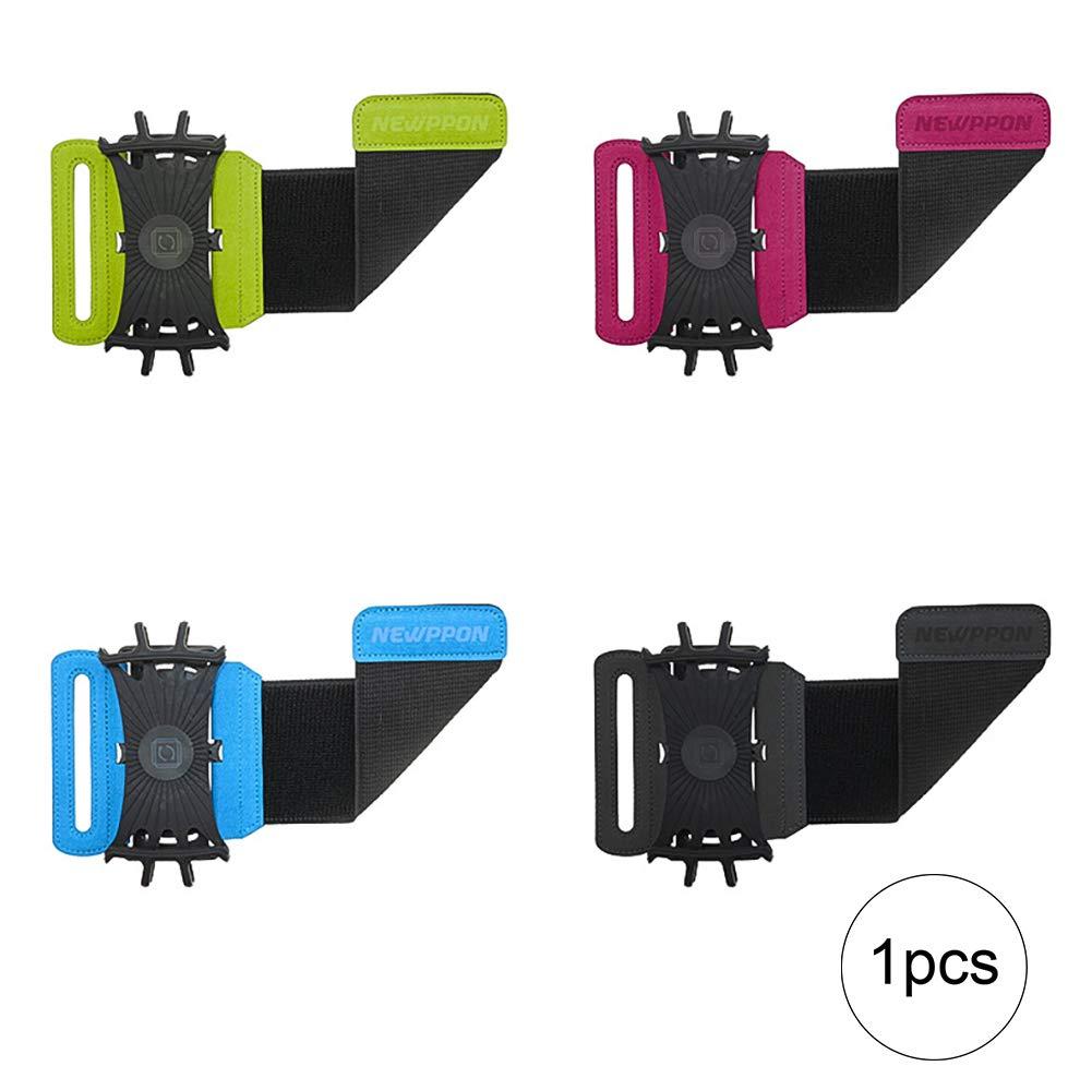 ouken Armband-Halter-Handy 180 ° drehbar für 4-6inches SMATE Telefon mit verstellbarem Gummiband für Rennen Gehen Wandern 1PC