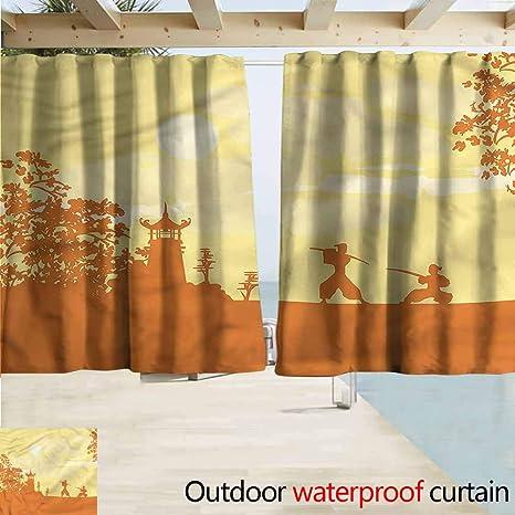 Amazon.com : Beihai1Sun Indoor/Outdoor Top Curtain Japanese ...