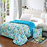 HOMEE Coral Large Armful Pillows Quilt Dual-Use Thick Rest Quilt Air-Conditioning and Cool in the Summer is Cotton Automotive Pillow,Spend - Blue,4343