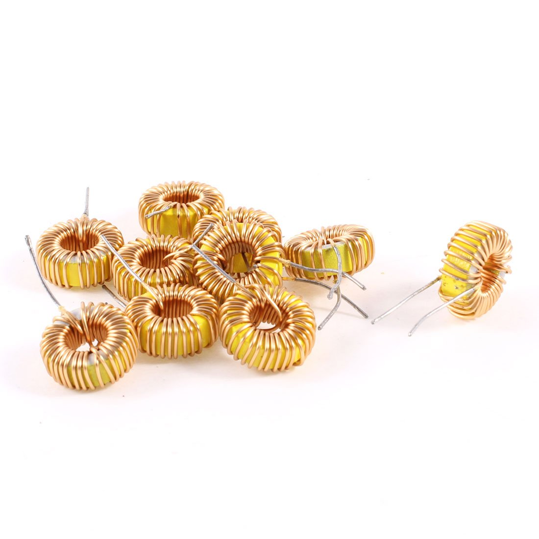 Uxcell a13071500ux0188 10 Piece Toroid Core Inductor Wire Wind Wound 33uH 35mOhm 2 Amp, Coil