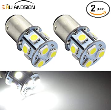 Ruiandsion 2pcs 1156 7506 BA15S DC 6V 12V 24V Super Bright 5050 9SMD Chipsets White LED Replacement Bulbs for Back Up Reverse Lights,Brake Lights,Tail Lights,Turn Signal Lights DC 24V
