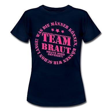4ee4df94aa1fb5 Spreadshirt JGA Team Braut Heute Wird Gefeiert Frauen T-Shirt  Amazon.de   Bekleidung