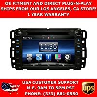 OttoNavi CH0712TH-WSS61NAX Chevrolet 07-12 Tahoe Multimedia In-Dash Double Din OEM Replacement Gen 6.0 Car Radio with 6 CD Virtual Memory (Black)