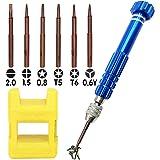 Precision Screwdriver Set,XSIATO Magnetic 6 in 1Tiny Screw Driver Kit ,Small Screwdriver Set Perfect Mini Screws for…