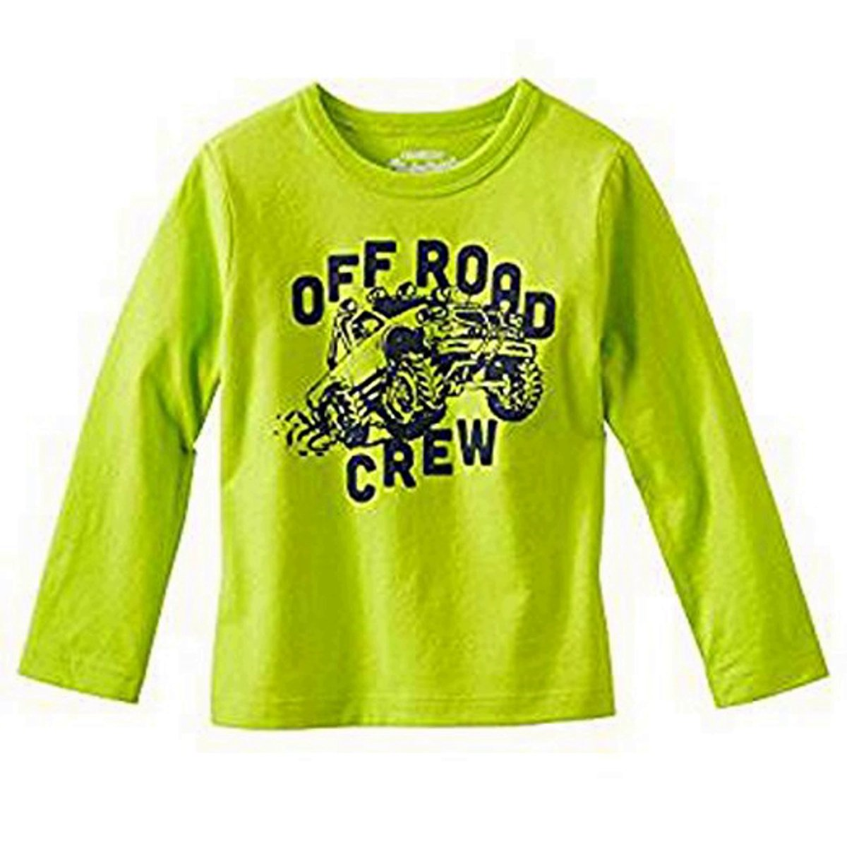 OshKosh Originals Graphic Tee Off Road Crew Lime Green Size 10