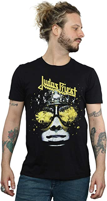 Absolute Cult Judas Priest Hombre Hell Bent Camiseta