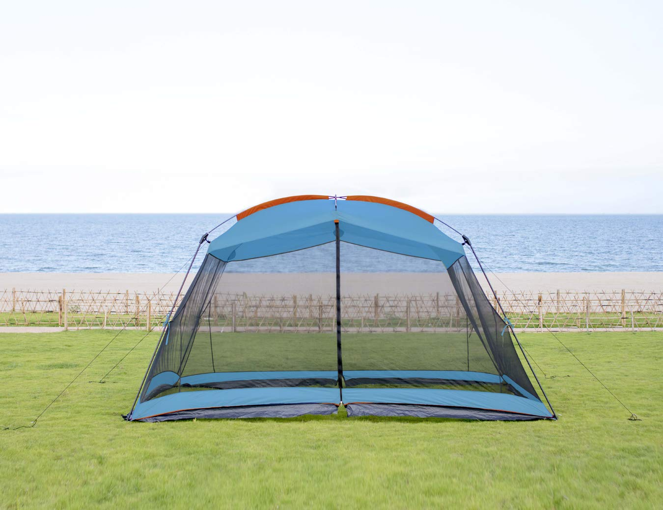 RORAIMA Bugs Proof Roomy Screen House 13'x9'x6.9', Instant Canopy Shelter Screen Tent,Easy Installation Within Mins and Good for Family Picnic Suitable for 5-8 People Blue (Blue) by RORAIMA