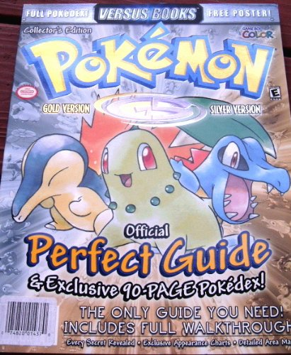 Price comparison product image Versus Books Pokemon Gold & Silver Perfect Guide (DE LUXE Metal Foil Collectors Edition) (Official Perfect Guide & Exclusive 90-Page Pokedex)