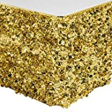 Metallic Gold Floral Sheeting Table Skirt