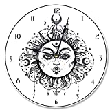 made in usa wood clock - The Stupell Home Decor Collection Stupell Industries Tarot Black and White Sun Vanity Clock, Proudly Made in USA