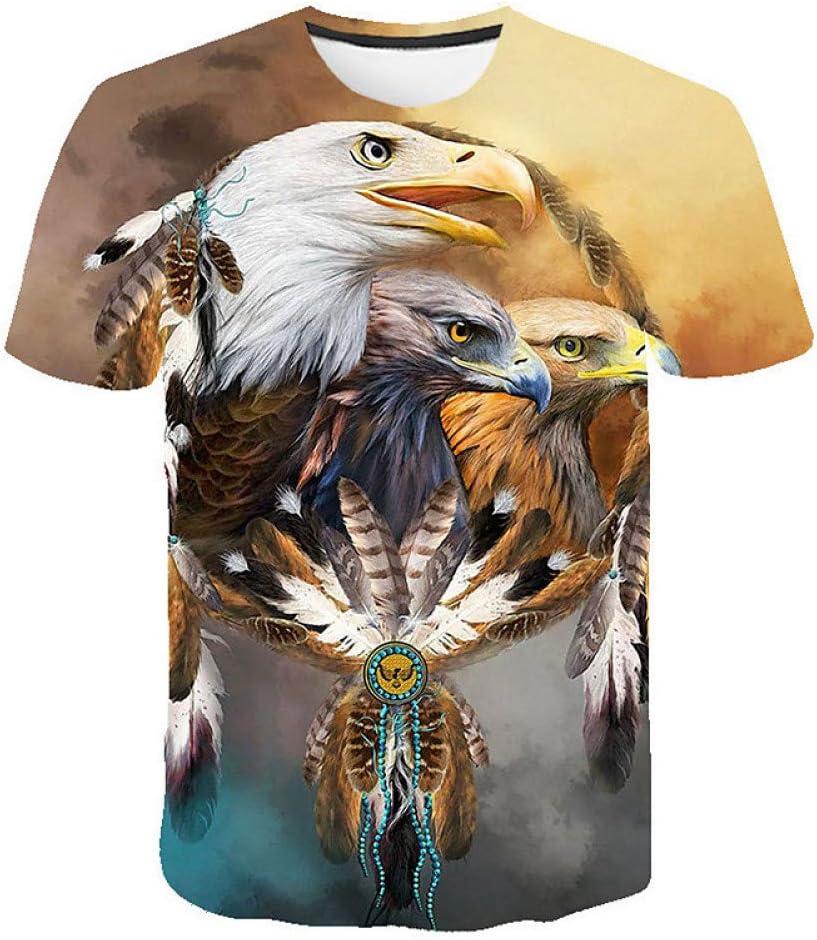 RCFRGV Camisa 3DT Camiseta básica para Hombre/Club Chic de la Calle - Estampado Animal Cuello Redondo Amarillo XXXL/Manga Corta: Amazon.es: Deportes y aire libre