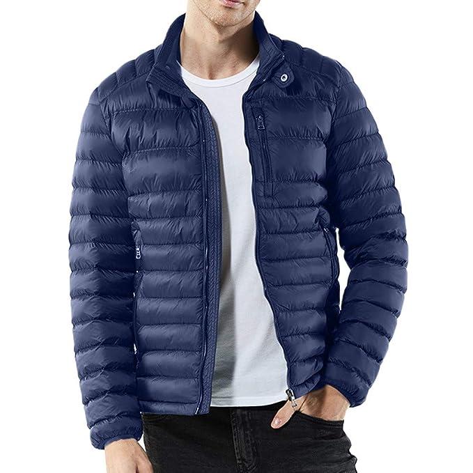 Vovotrade® Chaqueta de algodón para Hombres, Grueso y Grueso cálido Invierno con Cremallera para Hombres, otoño e Invierno, Cuello Casual, Abrigo de algodón ...