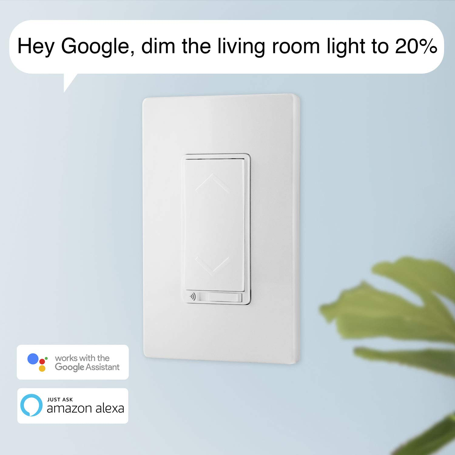 TOPGREENER Smart Wi-Fi Dimmer Switch, Neutral Wire Required, No Hub Required, Single Pole, Work with Alexa and Google Assistant, UL listed, TGWF500D 4 Pack