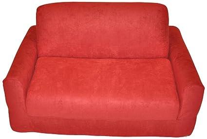 Amazon.com: Fun Furnishings Sofa Sleeper, Red Micro Suede: Kitchen ...