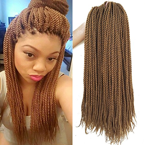 18 Inch 8Packs Senegalese Twist Hair Crochet Braids 30Stands/Pack Synthetic Braiding Hair Extensions for Black Women (18