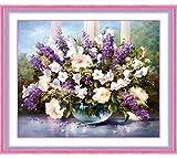 Souarts 5d Acrylic Rhinestone Artificial Rhinetone Diamond Painting DIY Kits Lavender Flower
