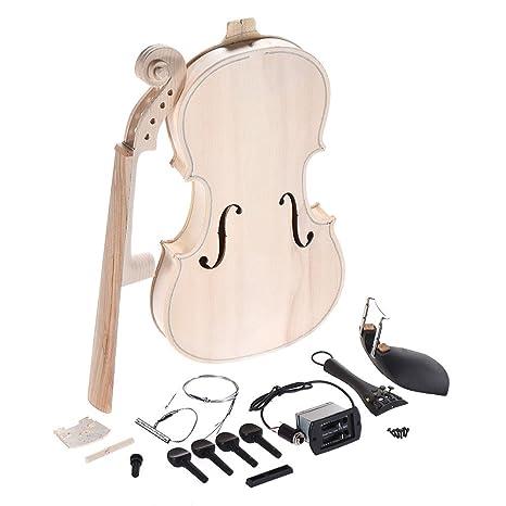 Violin Diy Kit Natural Solid Wood Acoustic Violin Fiddle Kit Spruce Top Maple Back Neck Fingerboard Violin Parts New Stringed Instruments