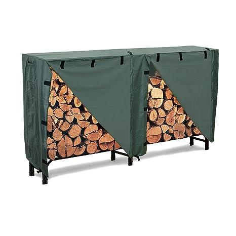 4ft 8ft Log Rack Cover Waterproof Firewood Wood Heavy Duty Storage Holders Cover